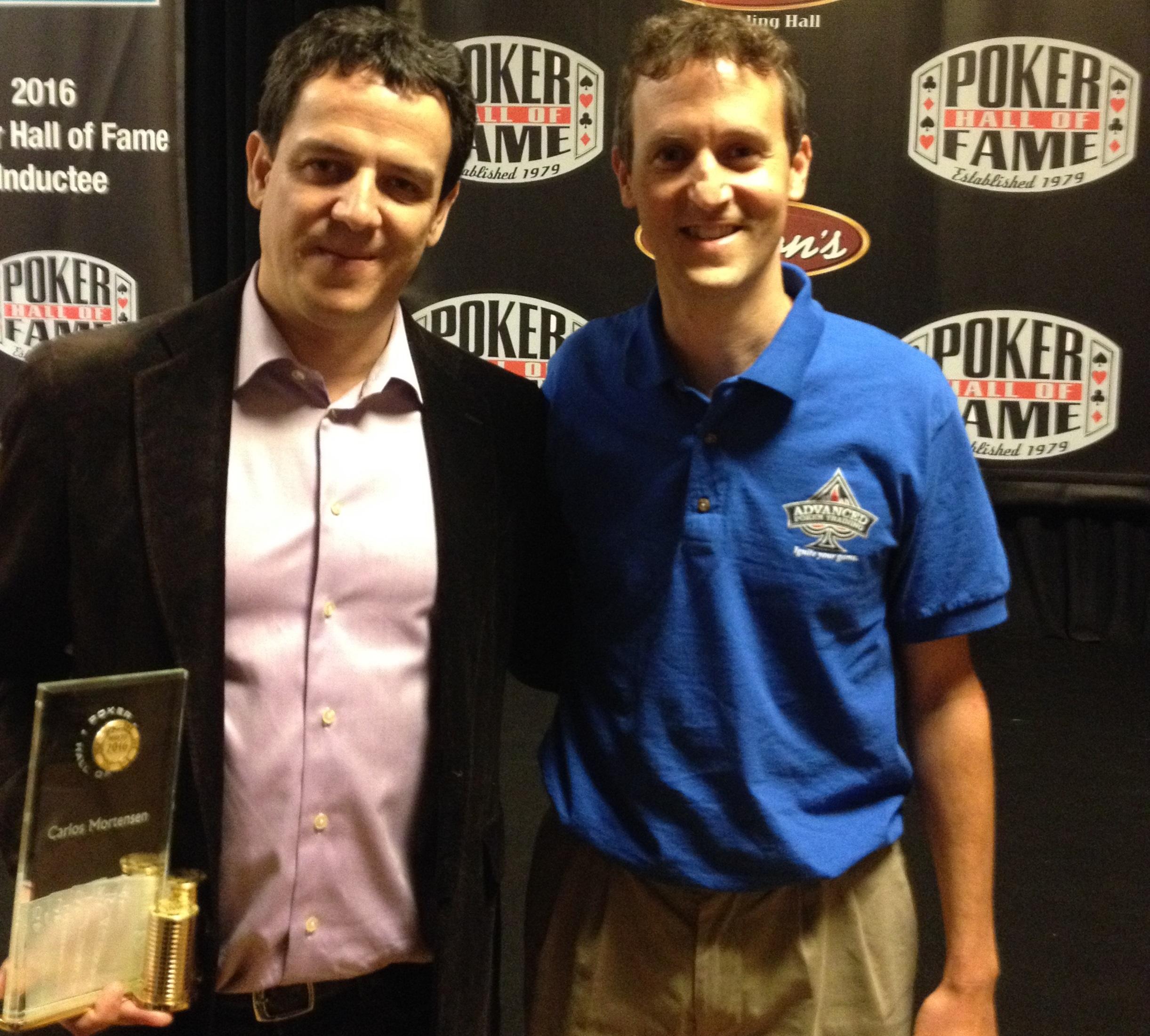 Carlos Mortensen, WSOP Hall of Fame inductee