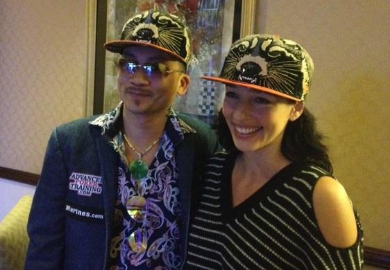 Even Kara Scott from ESPN can't resist the Raccoon hat!