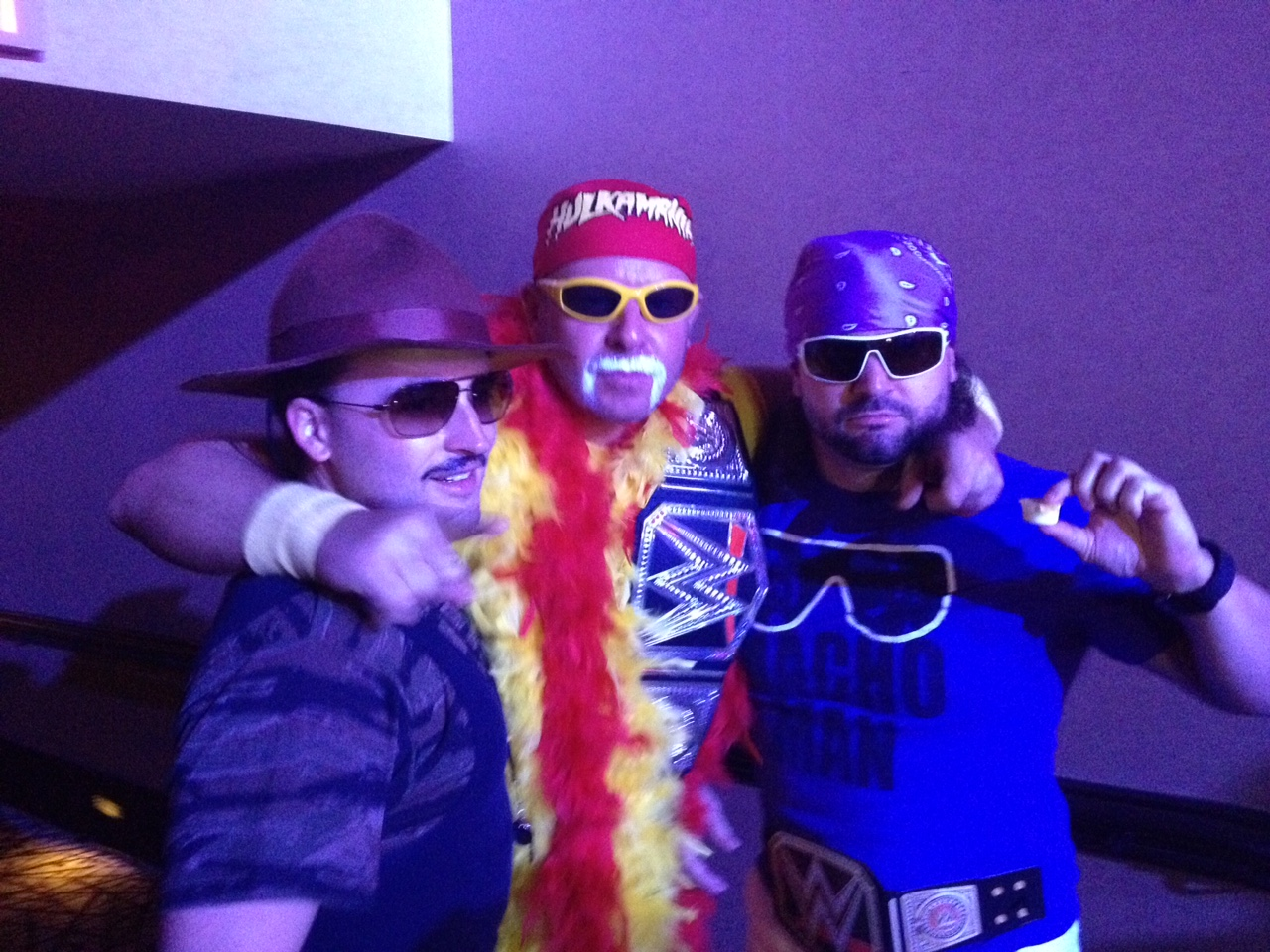 "Sergeant Slaughter, Hulk Hogan, Randy ""Macho Man'"" Savage"