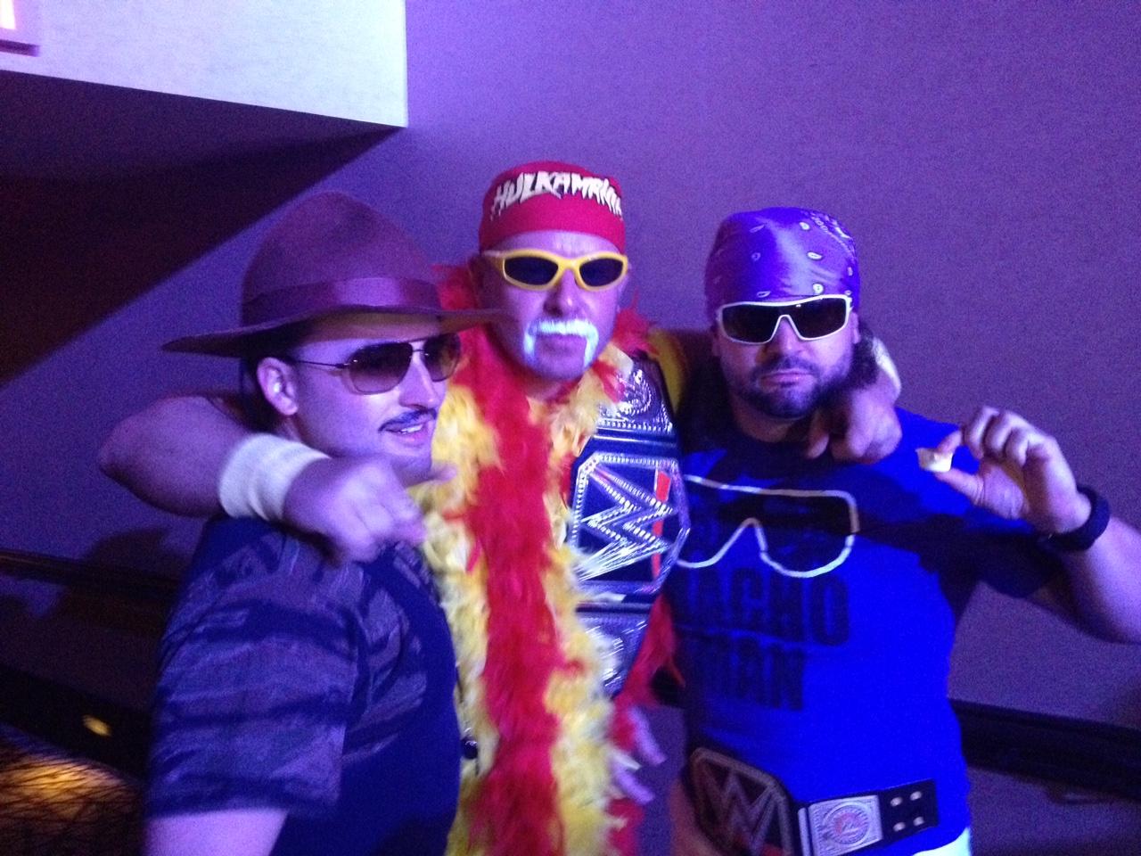 "Sergeant Slaughter, Hulk Hogan, Randy ""Macho Man'"" Savage"