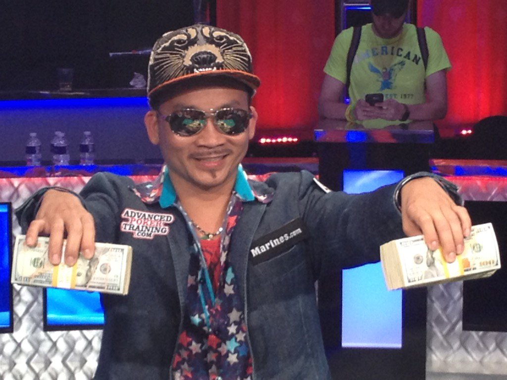 Qui Nguyen after his WSOP Victory